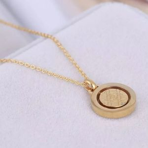 Michael Kors Jewelry - Michael Kors Gold Double Circle Crystal Necklace